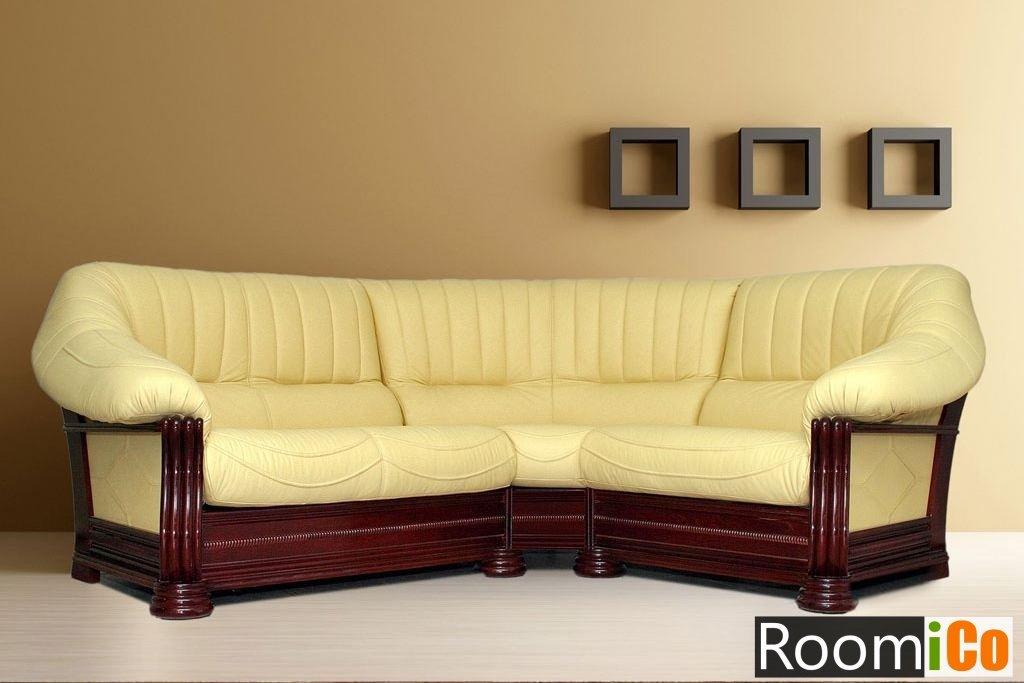 60f7c43d6 Купить угловой кожаный диван Монарх, подбор цвета в 3D - RoomiCo