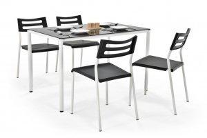 Стол и стулья Figaro - чёрные