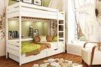 Деревянная двухъярусная кровать Дуэт