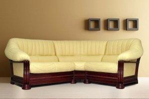 купить угловой кожаный диван монарх подбор цвета в 3d Roomico